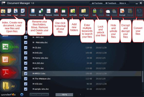 WonderFox Document Manager Features