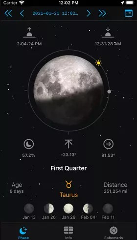 LunarSight App for Moon enthusiasts