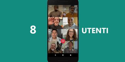 videochiamate con 8 utenti