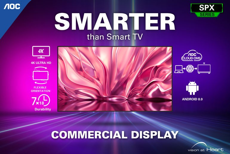 AOC Monitors Philippines Commercial Display