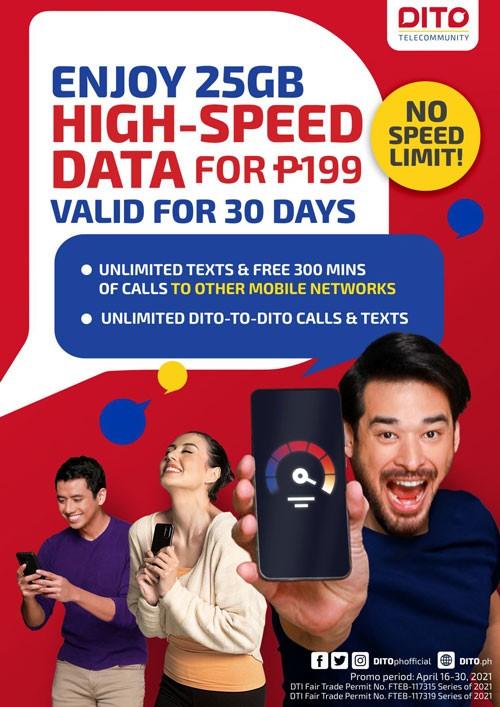 DITO Telecommunity 25GB High Speed Data Promo Extension