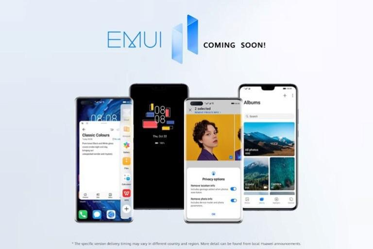 huawei emui 11 update schedule
