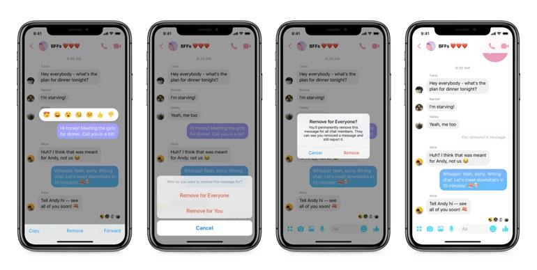 facebook messenger unsend messages