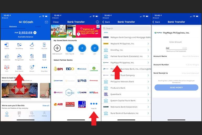 How to send money from GCash to Smart Padala