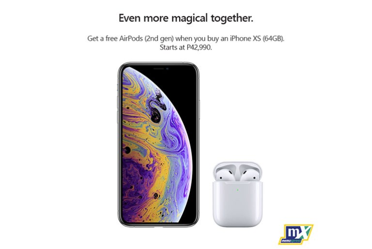 iPhone Xs, iPhone Xs Max comes with free AirPods at MemoXpress