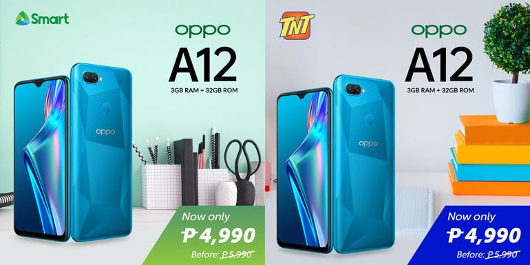 OPPO A12 available with Smart Prepaid, TNT