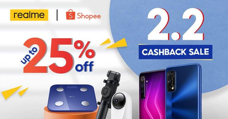 realme Shopee 2.2 Cashback Sale