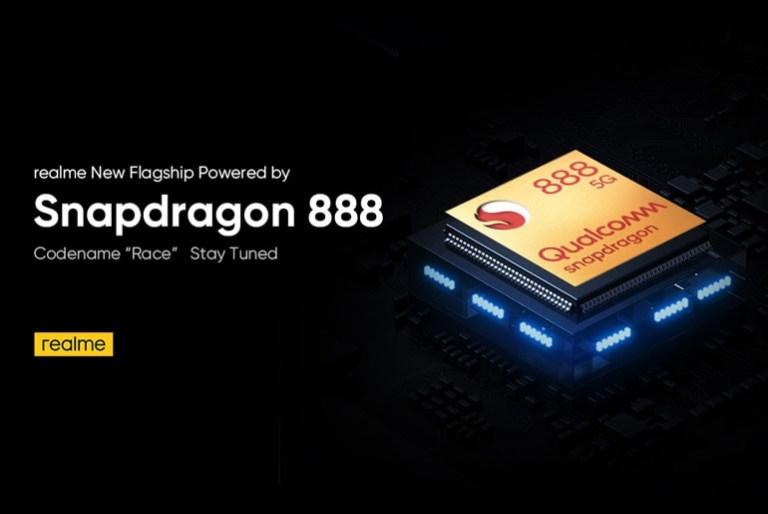 realme race qualcomm snapdragon 888
