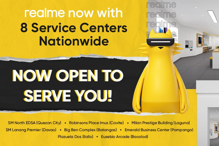 realme list of service centers philippines