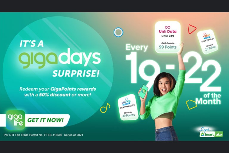 Smart lets subscribers enjoy GigaPoints discounts on GigaDays