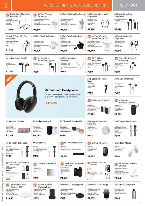 Xiaomi Mi Store Philippines Brochure Sept to Oct