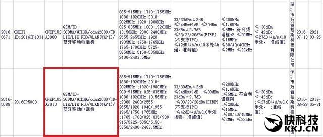 La foto che mostra la certificazione CCC del probabile OnePlus 3S