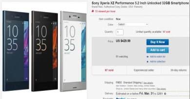 TechnoBlitz.it Sony Xperia XZ, sconto super! 430$ con garanzia inclusa, pezzi limitati