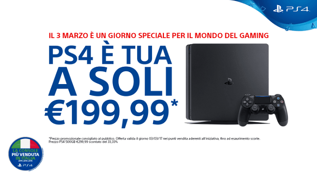 TechnoBlitz.it Festa delle console, PS4 in offerta a 199 euro