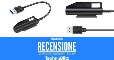 TechnoBlitz.it Inatek -  Cavo adattatore per HHD e SSD - RECENSIONE