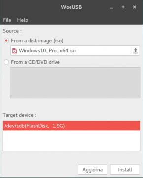 WOEusb - Chiavetta avviabile con Windows 10