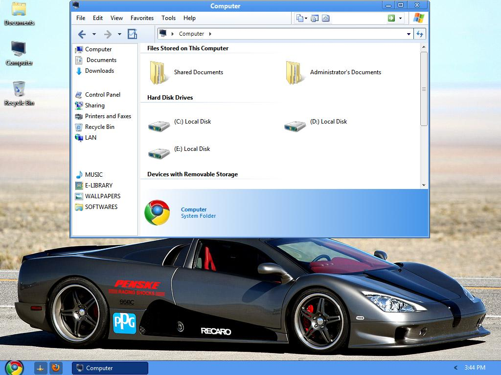 Google Chrome OS Transformation,  Google Chrome OS Theme, Windows XP