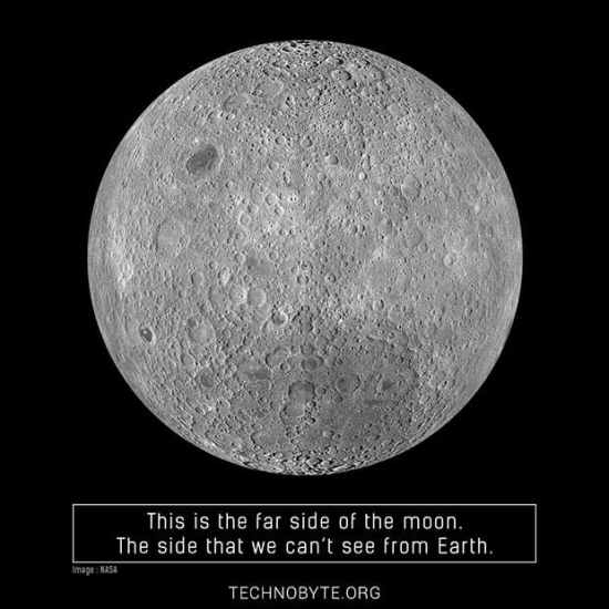 Far side of the moon interesting fact 2 tb
