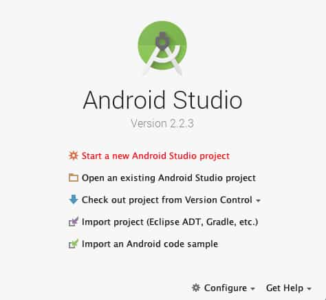 Android Studio Project Configuration