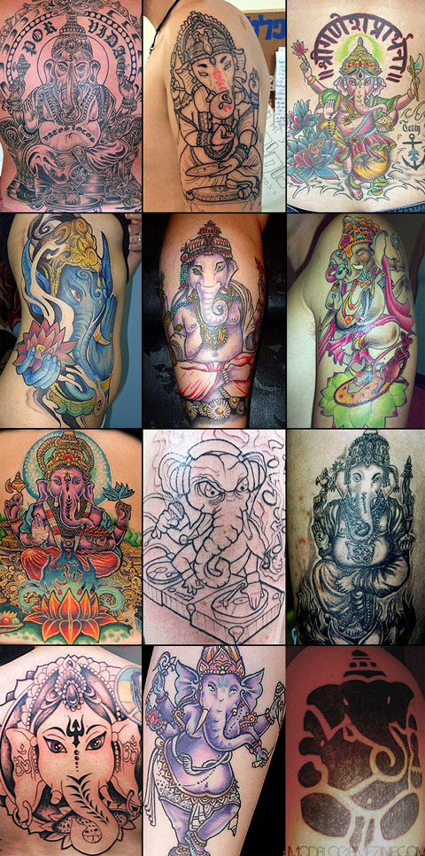 12 Ganesh tattoos