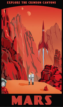 mars travel poster