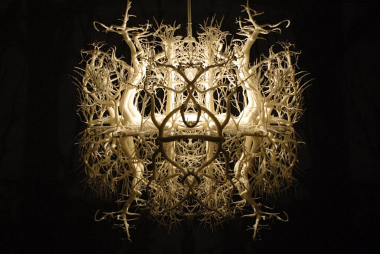Gorgeous Chandelier Plays With Shadows To Transport You Into A Fascinating Forest