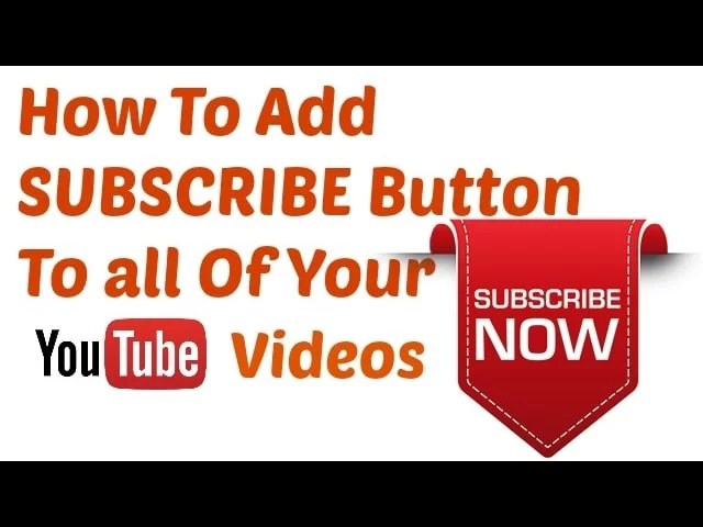 apply the Subscribe Button in Youtube Video