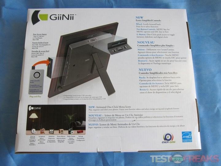 Giinii 8 Digital Photo Frame Manual