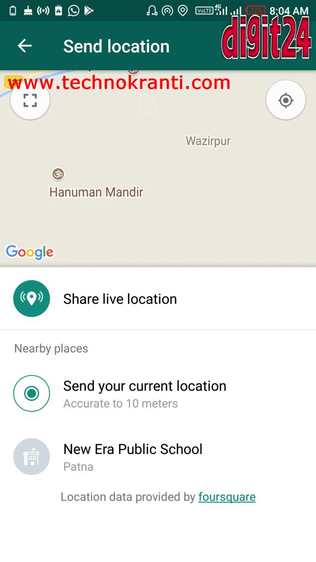 How to Track Location of People on WhatsApp » TECHNOKRANTI