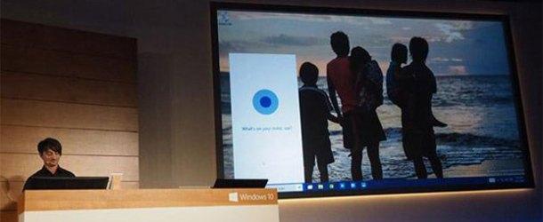 Dijital asistan Cortana bilgisayar ve tabletlerde