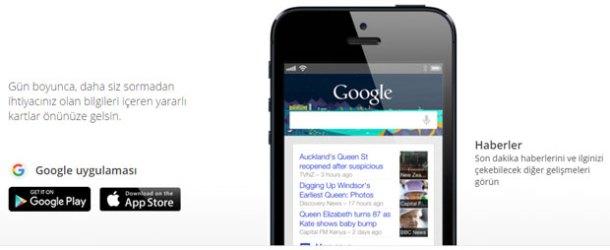 Google Türkiye yanlış biliyor; Google Now Türkiye'de kullanılabiliyor