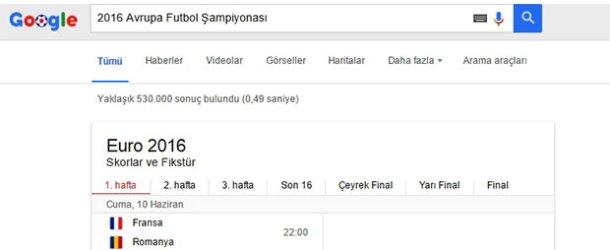 Futbolun nabzı Google'dan takip edilecek