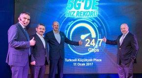 Turkcell 5G'de 24,7 Gbps rekor hıza ulaştı