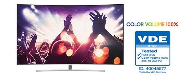 Samsung QLED TV'ye %100 renk hacmi onayı