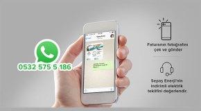 Sepaş Enerji bir Whatsapp mesajı uzağınızda