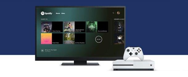 Spotify, Xbox One'a geldi