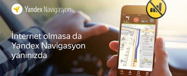 Yandex'te çevrimdışı navigasyon dönemi
