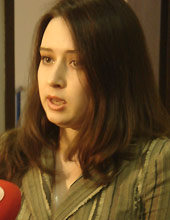 Marija Konovalova spaudos konferencijoje