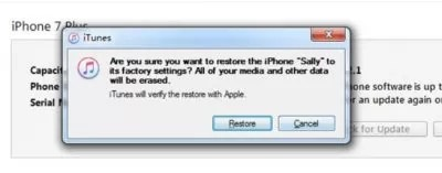 How to factory reset iPhone without a password