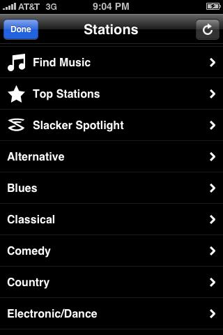 Slacker Genres