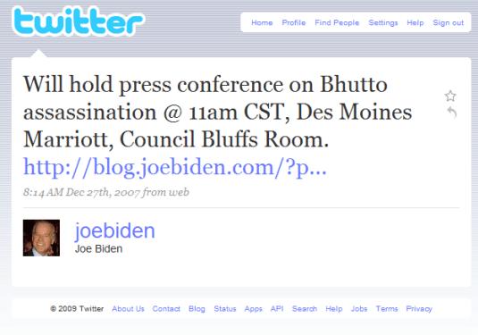 Joe Biden on Twitter