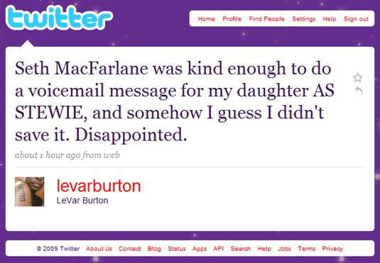 Levar Burton on Twitter
