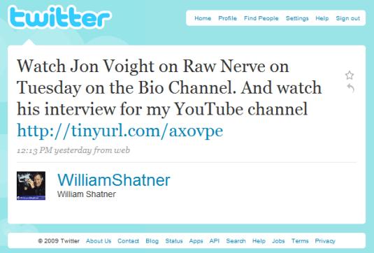 William Shatner on Twitter