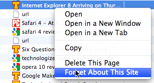 Firefox 3.5 Forget