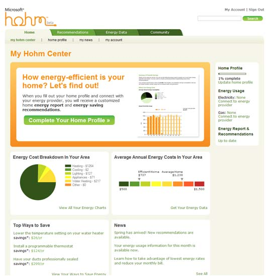 Microsoft Hohm