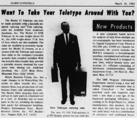 Portable Teletype
