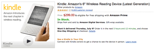 Kindle Price Cut