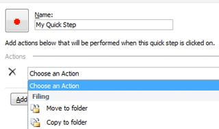 Outlook 2010 QuickSteps