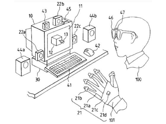 Virtual-reality glove