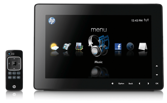 HP DreamScreen--buttons on